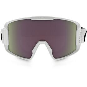 Oakley Line Miner Lunettes de ski Homme, matte white/w prizm hi pink iridium
